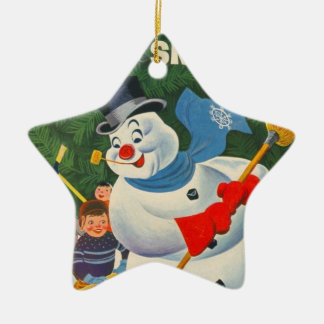 Vintage Frosty Christmas Ornament