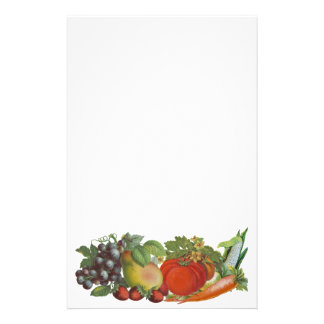 Vintage Fruit and Vegetables Stationery