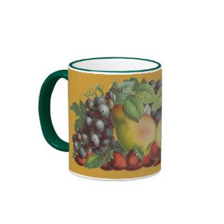 Vintage Fruit Art Coffee Mug