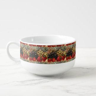 Vintage Fruit Art Soup Mug