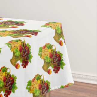 Vintage Fruit Basket pattern Tablecloth