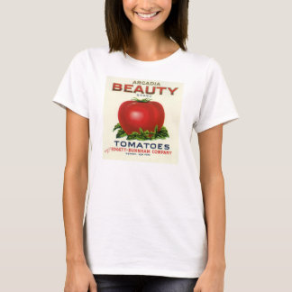 Vintage Fruit Crate Label, Arcadia Beauty Tomatoes T-Shirt