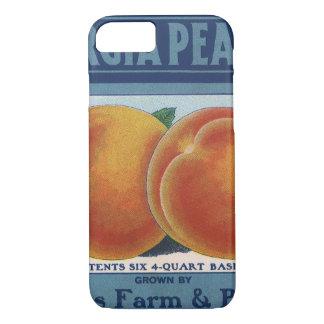 Vintage Fruit Crate Label Art, Georgia Peaches iPhone 8/7 Case