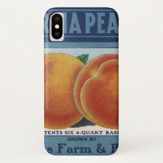 Vintage Fruit Crate Label Art, Georgia Peaches iPhone X Case