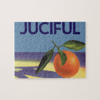 Vintage Fruit Crate Label Art, Juciful Oranges Jigsaw Puzzle