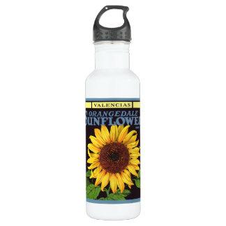 Vintage Fruit Crate Label Art Orangedale Sunflower 710 Ml Water Bottle