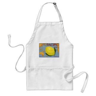Vintage Fruit Crate Label Art Pacific Citrus Lemon Standard Apron