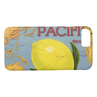 Vintage Fruit Crate Label Art Pacific Lemon Citrus iPhone 8/7 Case