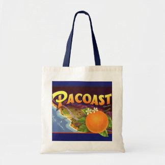 Vintage Fruit Crate Label Art, Pacoast Oranges Bags