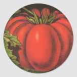 Vintage Fruit Crate Label Art, Wayne Co Tomatoes Classic Round Sticker