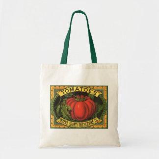 Vintage Fruit Crate Label Art, Wayne Co Tomatoes Budget Tote Bag