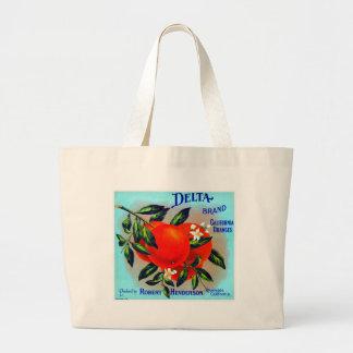 Vintage Fruit Crate Label Jumbo Tote Bag