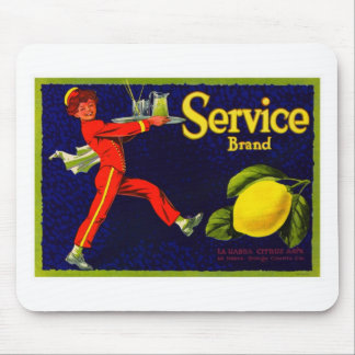 Vintage Fruit Crate Label Mouse Pads