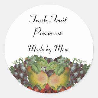 Vintage Fruit Custom Canning Label Stickers