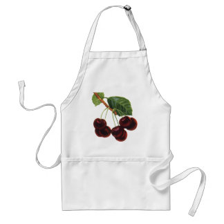 Vintage Fruit Foods, Ripe Cherries from a Tree Standard Apron