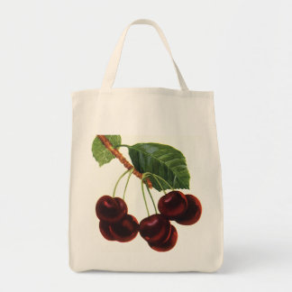 Vintage Fruit Foods, Ripe Cherries from a Tree Tote Bag