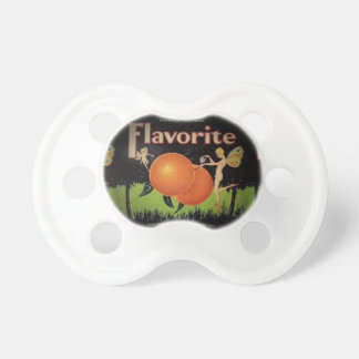 Vintage Fruit Packing Label Pacifier