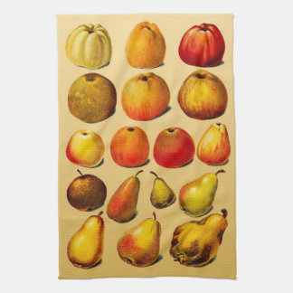 VINTAGE FRUITS (APPLES AND PEARS) Kitchen Towel
