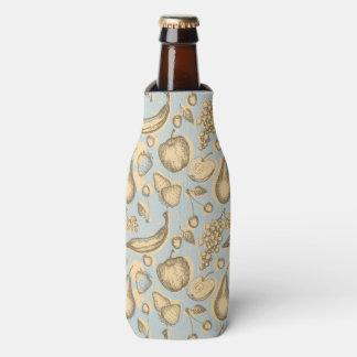 Vintage fruits pattern bottle cooler