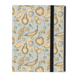 Vintage fruits pattern iPad cover