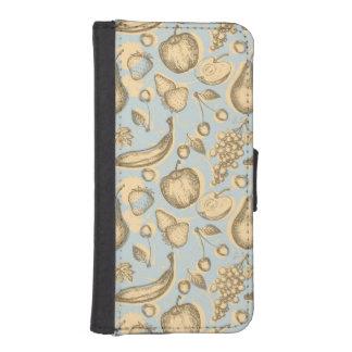 Vintage fruits pattern iPhone SE/5/5s wallet case