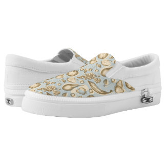 Vintage fruits pattern Slip-On shoes