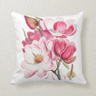 Vintage fuchsia blush pink elegant floral throw pillow