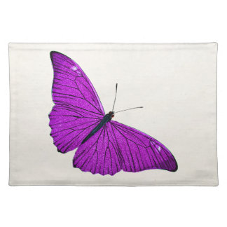 Vintage Fuchsia Purple Butterfly 1800 Illustration Placemat