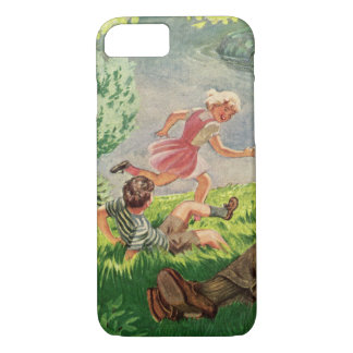 Vintage Fun Family Picnic Under a Shade Tree iPhone 7 Case
