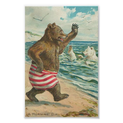 Vintage Funny Bears Posters