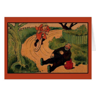 Vintage funny cycling card