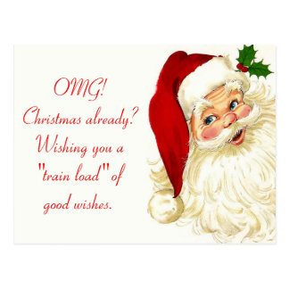Vintage Funny Santa Claus Postcard