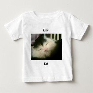 Vintage Fur Black White Kitten Retro Kitty Cat Art Baby T-Shirt