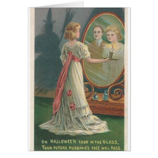 Vintage Future Husband Halloween Greeting Card