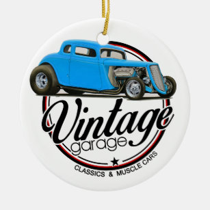 hot rod car christmas tree decorations ornaments zazzle co uk 1950 Style Hot Rods vintage garage hot rod christmas ornament