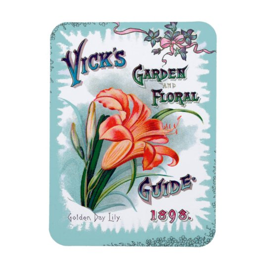 Vintage Garden and Floral Seed Cover Rectangular Photo Magnet