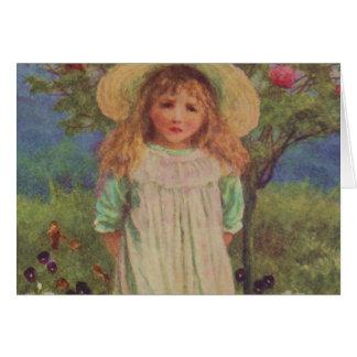 Vintage Garden Art - Allingham, Helen Greeting Card