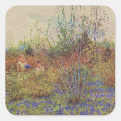 Vintage Garden Art - Allingham, Helen Sticker
