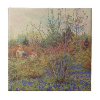 Vintage Garden Art - Allingham Helen Ceramic Tiles