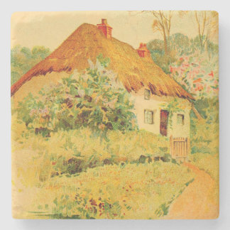 Vintage Garden Art - At the Portal 1904 Stone Coaster
