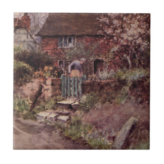 Vintage Garden Art - Ball Wilfrid Ceramic Tiles