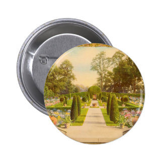 Vintage Garden Art - Beautiful Gardens of America Pinback Button