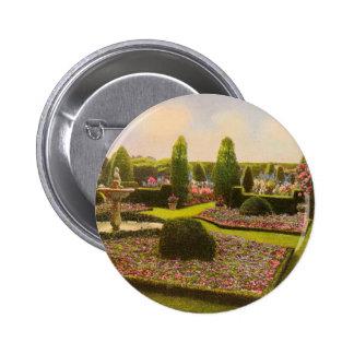 Vintage Garden Art - Beautiful Gardens of America Buttons