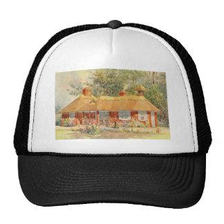 Vintage Garden Art - Beautiful House Mesh Hat