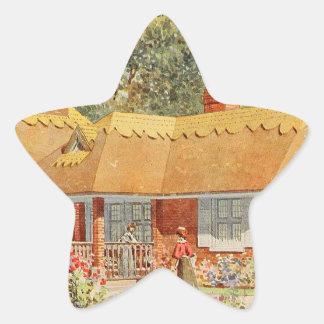 Vintage Garden Art - Beautiful House Star Sticker