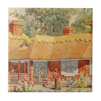 Vintage Garden Art - Beautiful House Tiles