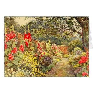 Vintage Garden Art - Elgood, George S. Card