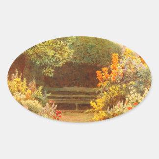 Vintage Garden Art - Elgood, George S. Oval Sticker