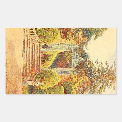 Vintage Garden Art - Elgood, George S. Rectangular Sticker