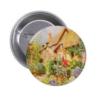 Vintage Garden Art - Nicolls, George F. Pinback Buttons